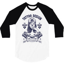 tattoo design girl 3/4 Sleeve Shirt | Artistshot