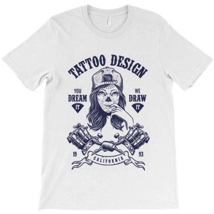 Tattoo Design Girl T-shirt Designed By Designisfun