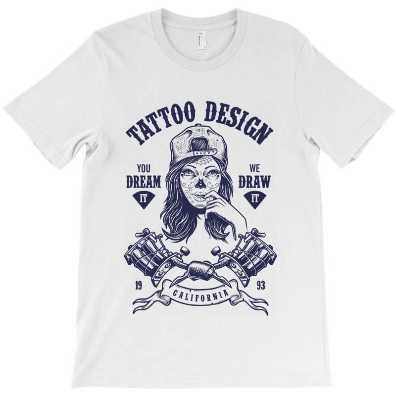 Tattoo Design Girl T-shirt | Artistshot