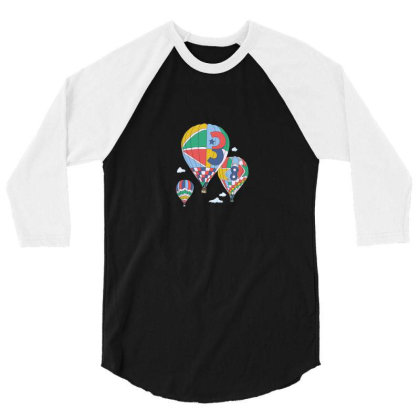 Balloon 3/4 Sleeve Shirt Designed By Disgus_thing