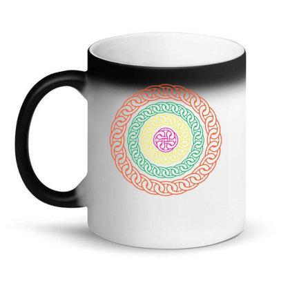 Chain Pattern Magic Mug Designed By Zahra_grafics