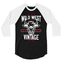 wild west vintage denim   2 3/4 Sleeve Shirt | Artistshot