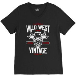 wild west vintage denim   2 V-Neck Tee | Artistshot