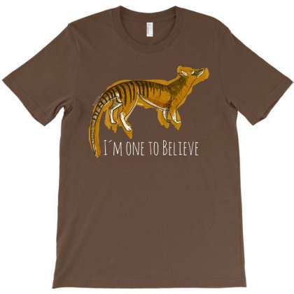 Believe In Thylacine T-shirt Designed By Belettelepink