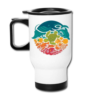 Aquarium Rainbow Travel Mug Designed By Cahyorin