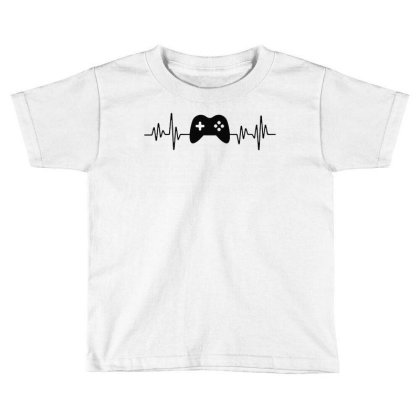 Gamer Heartbeat 1 Toddler T-shirt Designed By Tht