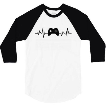 Gamer Heartbeat 1 3/4 Sleeve Shirt Designed By Tht