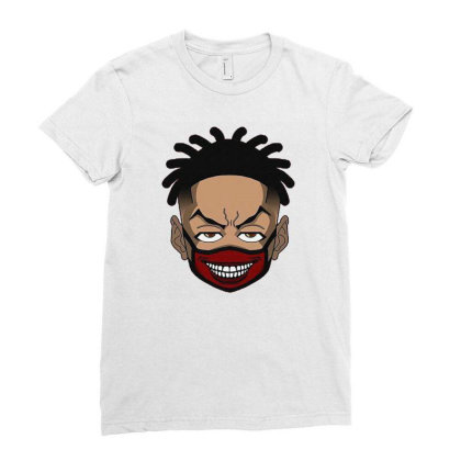 Lil Peep Ladies Fitted T-shirt Designed By Ellraymond