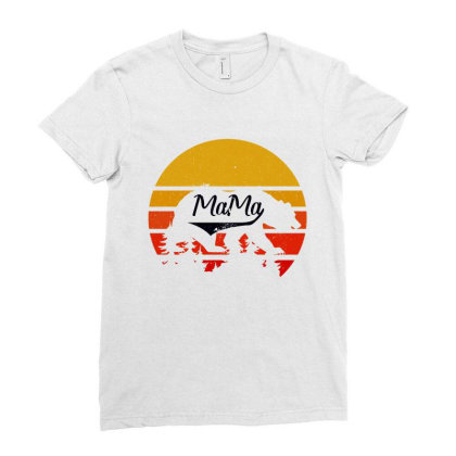 Mama Bear Ladies Fitted T-shirt Designed By Bettercallsaul