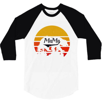 Mama Bear 3/4 Sleeve Shirt Designed By Bettercallsaul