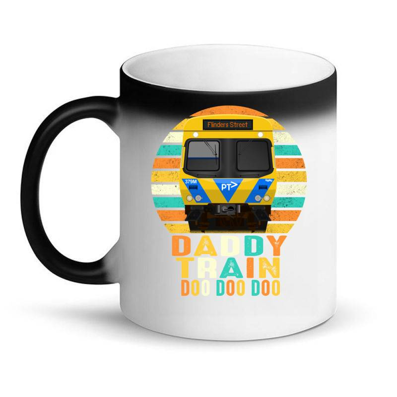 Daddy Train Doo Doo Doo Fathers Day 2020 Quarantined Vintage Magic Mug   Artistshot