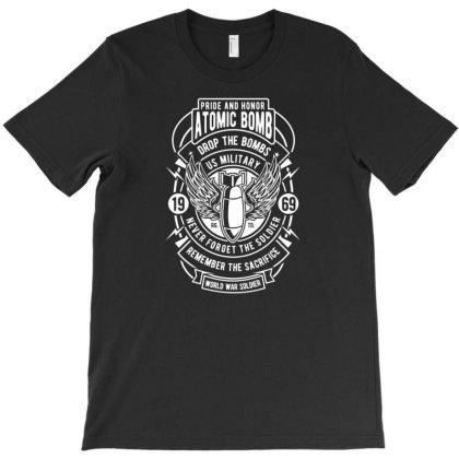 Atomic Bomb Badge T-shirt Designed By Rulart