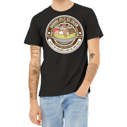 Banana Split 6 Heather T-shirt Designed By Rulart