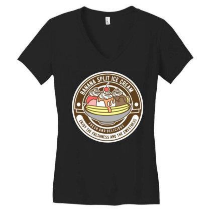 Banana Split 6 Women's V-neck T-shirt Designed By Rulart