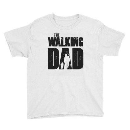 The Walking Dad Black Font Youth Tee Designed By Akuasegar