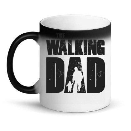 The Walking Dad Black Font Magic Mug Designed By Akuasegar