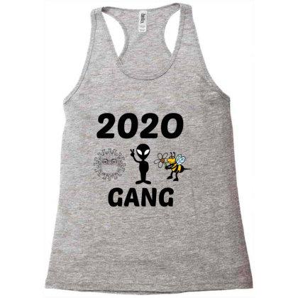 Gang 2020 Covid,alien,murder Hornet Racerback Tank Designed By Perfect Designers