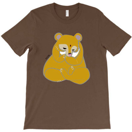 Yoga Golden Bear T-shirt Designed By Belettelepink