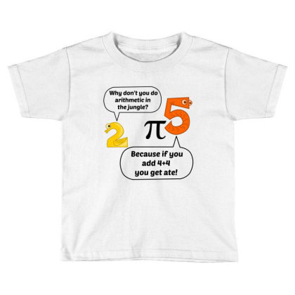 Arithmetic In The Jungle Toddler T-shirt Designed By Perfect Designers