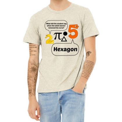 Hexagon Heather T-shirt Designed By Perfect Designers