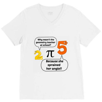 Geometry Teacher At School V-neck Tee Designed By Perfect Designers