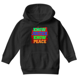 know justice know peace Youth Hoodie | Artistshot