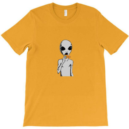 Alien Eat Pizza T-shirt Designed By Asatya