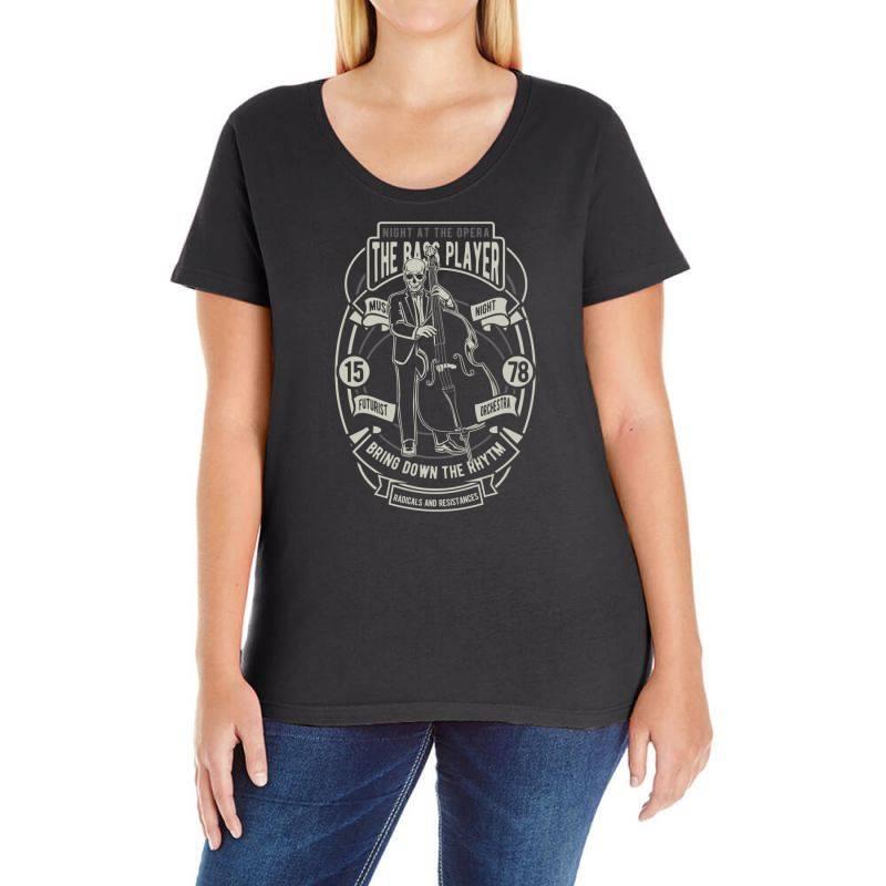 Bass Player Ladies Curvy T-shirt   Artistshot