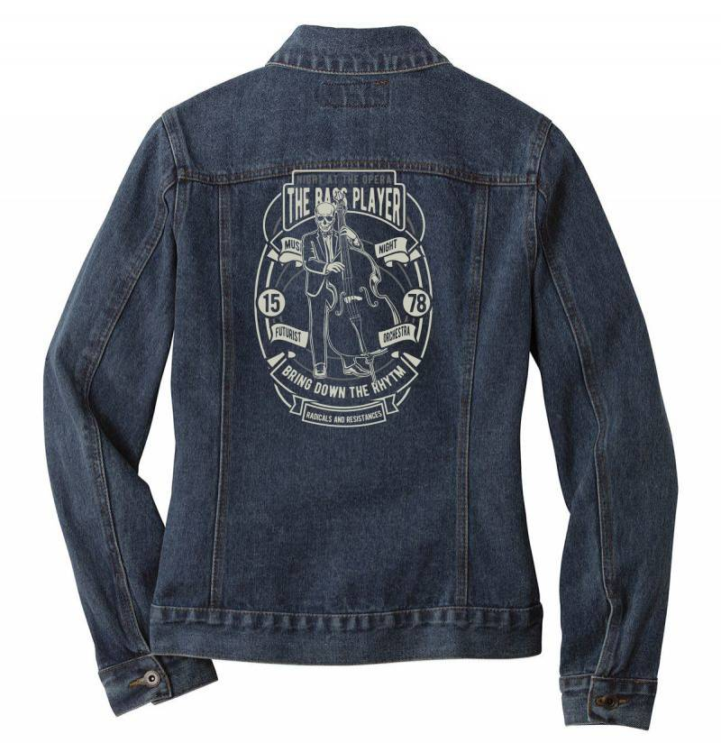 Bass Player Ladies Denim Jacket | Artistshot
