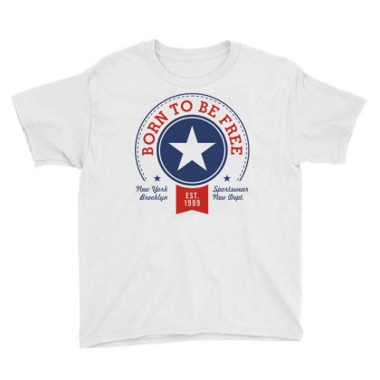 Born Free Freedom Youth Tee Designed By Designisfun