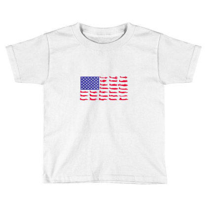 Fishing American Flag Toddler T-shirt Designed By Hoainv
