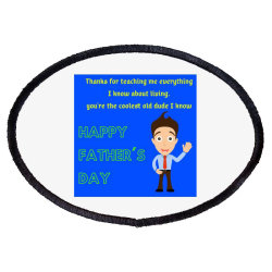 Father's Day Especially Art Oval Patch Designed By American Choice