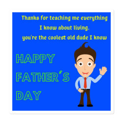 Father's Day Especially Art Sticker Designed By American Choice