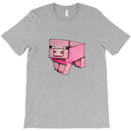 Minecraft Pig T Shirt T-shirt Designed By Asatya