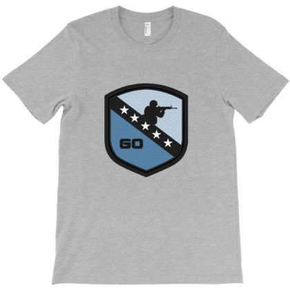 Counter Striker Global Offensive Logo Shienld T-shirt Designed By Asatya