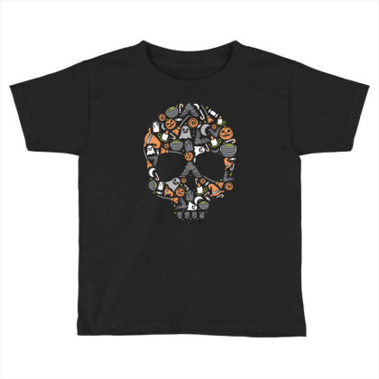Skull Toddler T-shirt Designed By Januarart