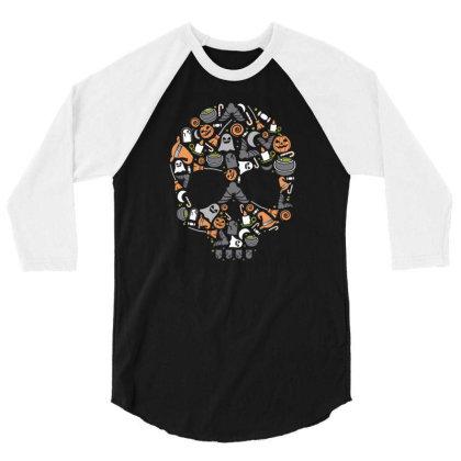 Skull 3/4 Sleeve Shirt Designed By Januarart