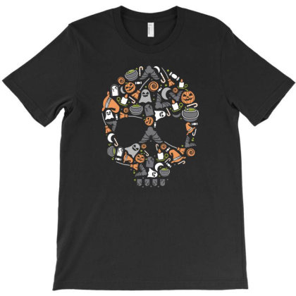 Skull T-shirt Designed By Januarart
