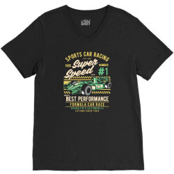 sports car racing V-Neck Tee | Artistshot