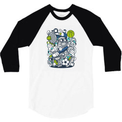 sports robot 3/4 Sleeve Shirt | Artistshot