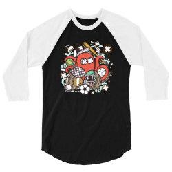 sports octopus 3/4 Sleeve Shirt | Artistshot