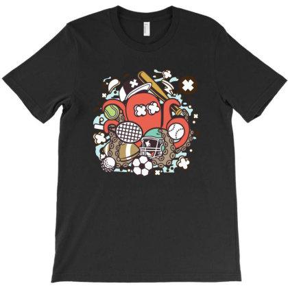 Sports Octopus T-shirt Designed By Januarart
