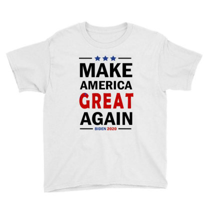 Make America Great Again   Joe Biden 2020 Youth Tee Designed By Tht