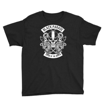 Black Parade Youth Tee Designed By Rulart