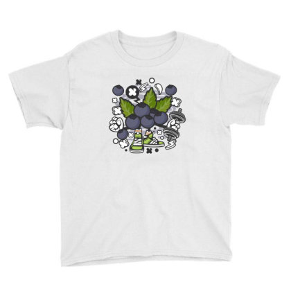 Blueberry Youth Tee Designed By Rulart