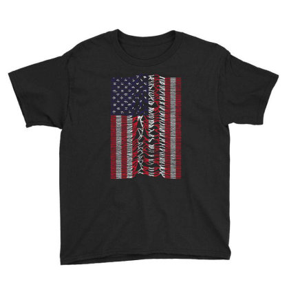 Unknown Pleasures Usa Flag Youth Tee Designed By Tht
