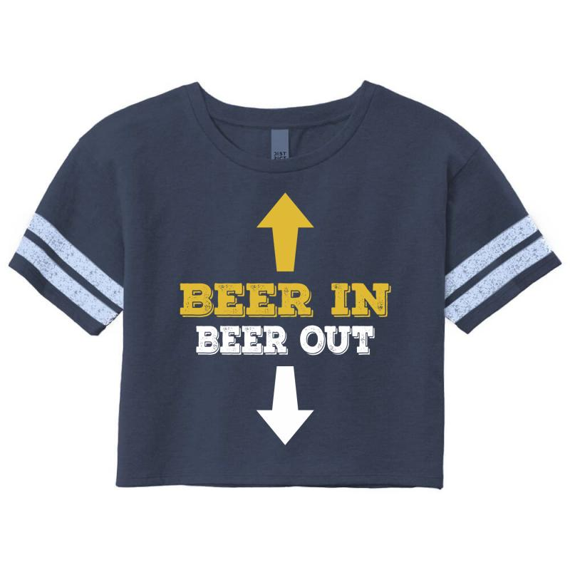 Beer In Beer Out Scorecard Crop Tee | Artistshot