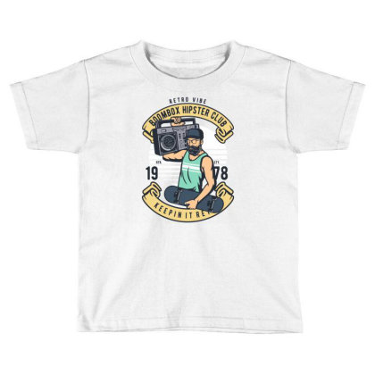 Boombox Hipster Toddler T-shirt Designed By Rulart