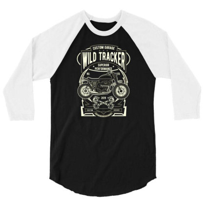 Wild Tracker 1 3/4 Sleeve Shirt Designed By Januarart