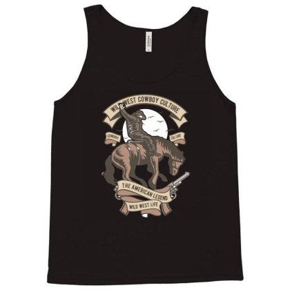 Wild West Cowboy Culture Tank Top Designed By Januarart